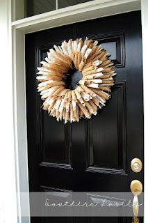 Burlap Book Wreath DIY @ Southern Lovely