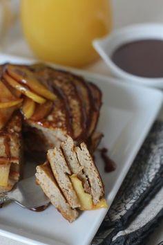 Paleo Caramel Apple Pancakes