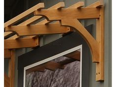 Window Bracket and Support for shade Trellis over a Window (climbing shade plants arbors) Wooden Pergola, Diy Pergola, Gazebo, Pergola Ideas, Outdoor Window Awnings, Craftsman Windows, Window Canopy, Porche, Wood Windows