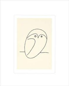 Le Hibou, Pablo Picasso.  I love Picasso's abstract stuff, but his line drawings are wonderful.