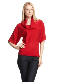 SPENSE Cowl Neck Dolman Sleeve Sweater