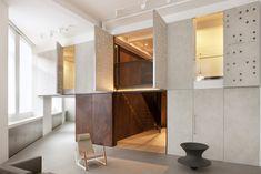 1508's Project Elizabeth - main reception with concrete doors open