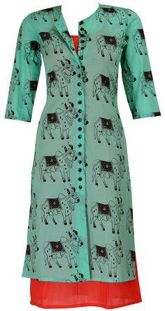 Cow print kurta from Masaba. Gear up that wardrobe! http://www.perniaspopupshop.com/designers-1/masaba