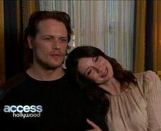 Sam and Caitriona being cute together! Dawww :3