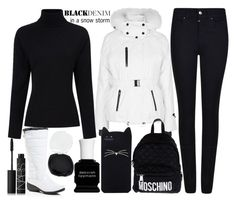 """Blizzard In New York City Today: Black Denim"" by j-n-a ❤ liked on Polyvore featuring Khombu, Deborah Lippmann, NARS Cosmetics, Topshop, Giorgio Armani, Preen, Moschino, Kate Spade, women's clothing and women's fashion"