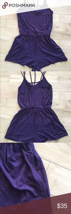 Purple romper Soft summer romper. Never been worn. American Eagle Outfitters Other