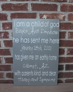 I am a child of God with kids names