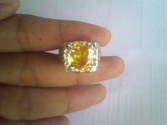 Image for Batu Citrine Ungu Batu Permata Mulia Akik Kristal Cincin Gemstone Kalimantan Murah Rawa Bening