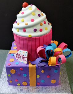 Cupcake + Present by Alliance Bakery, via Flickr
