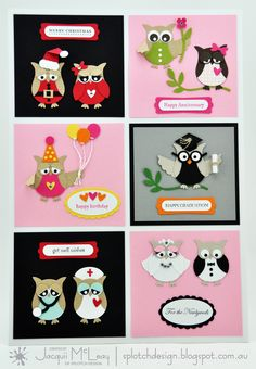 Splotch Design - Jacquii McLeay - Idea's to use the stampin up owl punch!