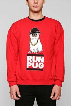 Run Pug Pullover Sweatshirt