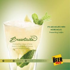 A beery refreshing version of the classic mojito. It's the only solace you need after a tiring day. ‪#‎brewtails‬ ‪#‎beer‬ based ‪#‎cocktails‬