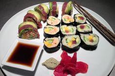 Paleo sushu med blomkålsris.