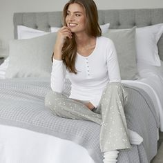 White Company | Heart print pyjama bottoms