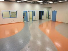 Stontec ERF in a youth detention facility. This epoxy system is designed for use over smooth concrete. Stontec is a dense, stain-resistant flake system with an extensive range of finishes and color options.