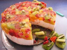 Tvarohovo ovocná torta *** Recept zde: http://dobruchut.azet.sk/recept/31921/fotorecept-tvarohovo-ovocna-torta/