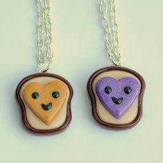 Kawaii Heart Peanut Butter and Jelly Best by PumpkinPyeBoutique, $28.00