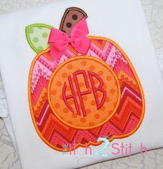 Pumpkin for Monogram Applique