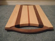 Large Maple Cutting Board / Tray with ContrastingWood by tmcaneeley, $99.00