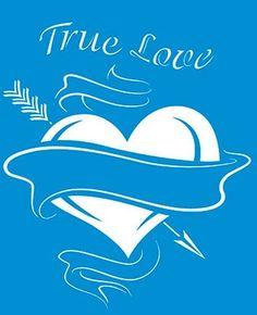 Stencil True Love 17 x 21cm - STM 255 Litoarte - Stencil 17 x 21cm - Stencil ou molde vazado - Empório Janial