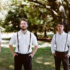 Casual, vintage groomsmen attire