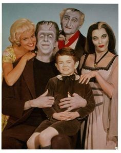 """La familia Monster"" Early Eddie w/o widow's peak and face makeup"