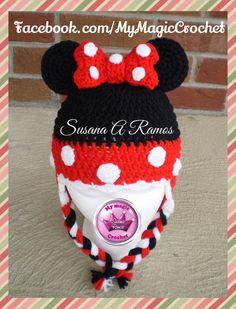 Minnie Mouse Crochet Hat https://www.etsy.com/your/shops/MyMagicCrochetUS