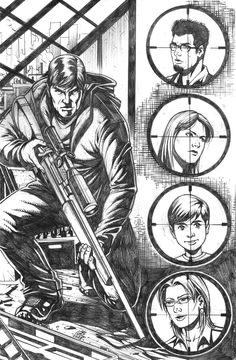 Pencils for the cover for the new Ghost Assassin (ongoing series) issue Illustration by Joel Cotejar. Coming soon from Darkslinger Comics! Ghost Assassin, Comics, Cover, Illustration, Fictional Characters, Art, Craft Art, Illustrations, Slipcovers