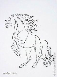 Картина, панно, рисунок Вырезание, Вырезание силуэтное: Навырезалось ... Лошади Бумага. Фото 6