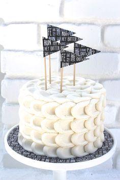 Cake from a Modern Baseball Birthday Party via Kara's Party Ideas KarasPartyIdeas.com (24)