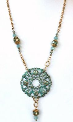 GUILDERS PASTE ON FILIGREE.......................................All components to make Gilded Lace Necklace : Bead Inspirations!, Rediscover Your Natural Creativity!