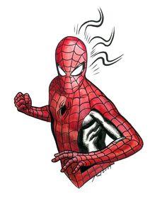 Spider-man con sketch by quin-ones on DeviantArt