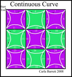 continuous-curve stitching grid by Carla Barrett