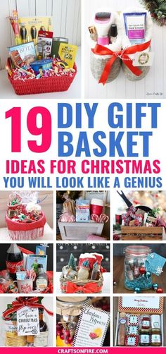 These DIY gift basket ideas for Christmas are the BEST! So many amazing ways to . These DIY gift basket ideas for Christmas are the BEST! So many amazing ways to fill a gift basket Diy Christmas Baskets, Easy Diy Christmas Gifts, Family Christmas Gifts, Easy Diy Gifts, Christmas Gift Kits, Christmas Ideas, Simple Gifts, Family Gifts, Christmas Presents