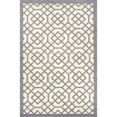 Jaipur Rugs IndoorOutdoor Geometric Pattern Gray/Ivory Polypropylene Area Rug BA43 (Rectangle)
