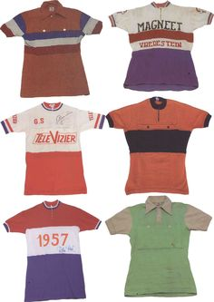 old cycling jerseys