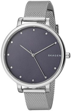 Skagen Womens SKW2582 Hagen Stainless Steel Mesh Watch * Want additional info? Click on the image.