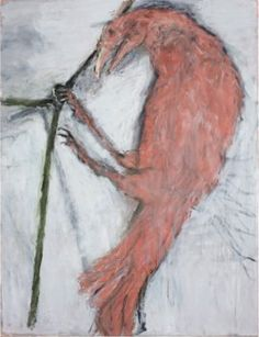 Susan Rothenberg, Pink Raven, 2012, oil on canvas, 62 1/2 x 48 inches.JAMES HART PHOTOGRAPHY/COURTESY THE ARTIST AND SPERONE WESTWATER