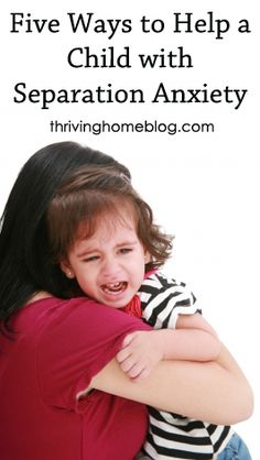 Words of wisdom from a full-time childrens ministry director on how to help your child cope with separation anxiety.