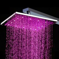 [US$ 89.99] 10 inch Brass Shower Head with Color Changing LED Light