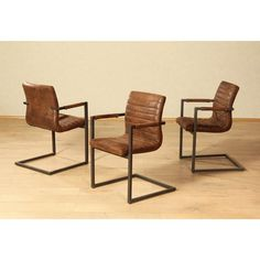 Set van 2 stoelen in imitatieleer Perceval van PREMIUM COLLECTION HOME AFFAIRE