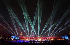 Lasershow Tag der Einheit Dresden 2016