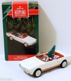 1966 Mustang Convertible Hallmark Ornament 1992 Classic American Cars #2