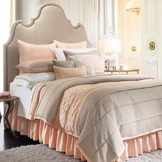 peach and grey bed :)