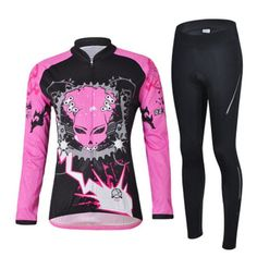 Cycling Queen Long Sleeve Cycling Jersey Set