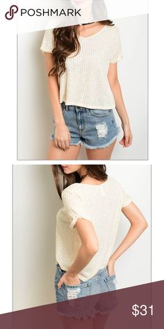 Cream colored top, NWT Cream colored top, NWT,Fabric Content: 55% RAYON 45% POLYESTER Tops Tees - Short Sleeve