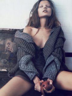 """Intimés Sénsation"" - Magdalena Frackowiak photographed by Paolo Roversi for Vogue Paris, October 2007."