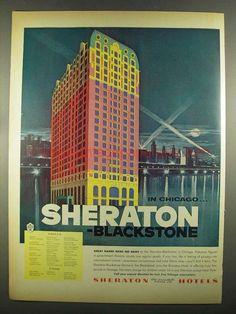1955 Sheraton Blackstone Hotel Ad - In Chicago