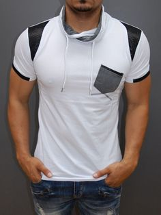 a real head tuner, a true show-stopper Mens Attire, Camisa Polo, Polo T Shirts, Look Cool, Swagg, Workout Shirts, Shirt Outfit, Cool Outfits, Shirt Designs