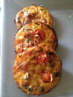 Tartelettes sans pâte courgettes tomates
